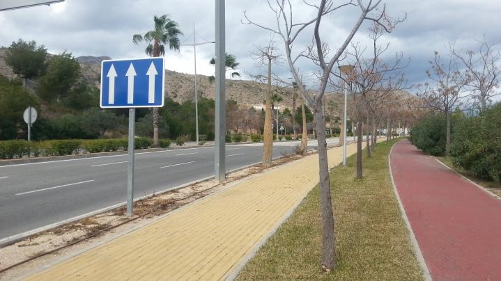 Zona tres carriles antes