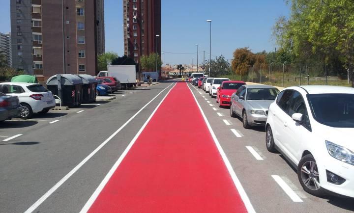 Nuevo Carril bici bidireccional en la Calle Italia de Benidorm 1